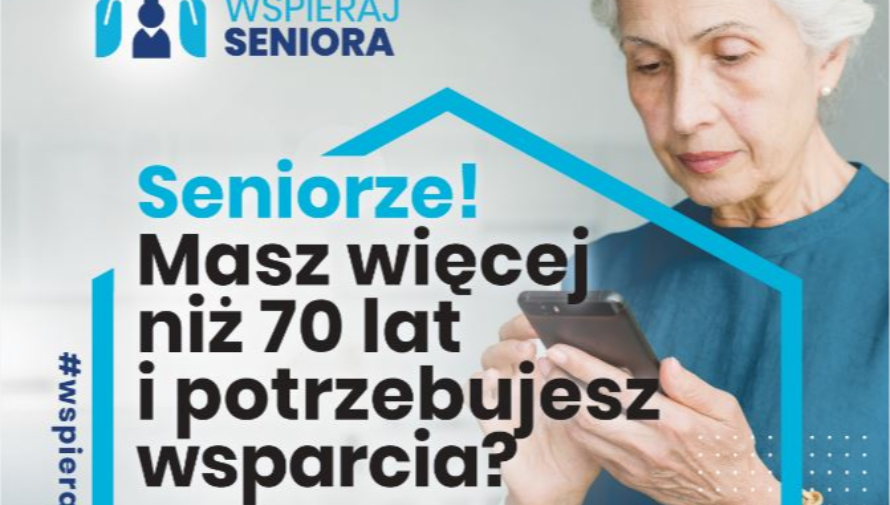 plakat akcji WSPIERAJ SENIORA