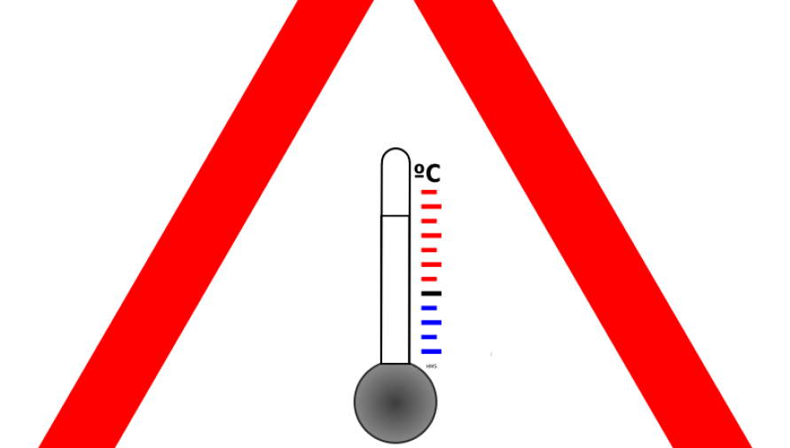 ostrzeżenie meteo - termometr - grafika - Kliknięcie w obrazek spowoduje wyświetlenie jego powiększenia
